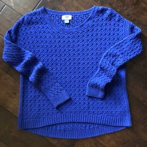 Purple/Blue Hi-Lo Sweater XS
